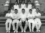 Back Row: Left to Right: Geoffrey Davidson, Peter Friend, Rodney Moore 2nd Back Row: John Stavenden, Brian Firth, John Massey, Brian Edwards Front Row: Lesley Davis, John Duncan, John Macarthur, James Coyle, John Ingram Photo taken the day after CHS FIrst XI beat Melbourne Boys' High School for the first time on their own ground!